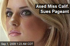 Axed Miss Calif. Sues Pageant