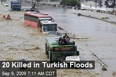 20 Killed in Turkish Floods