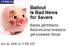 Bailout Is Bad News for Savers