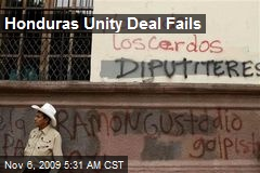 Honduras Unity Deal Fails
