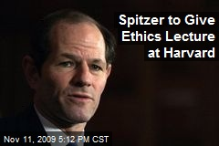 Spitzer to Give Ethics Lecture at Harvard