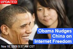 Obama Nudges China on Internet Freedom