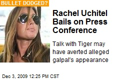 Rachel Uchitel Bails on Press Conference