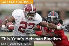 This Year&#39;s Heisman Finalists