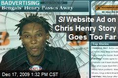 SI Website Ad on Chris Henry Story Goes Too Far