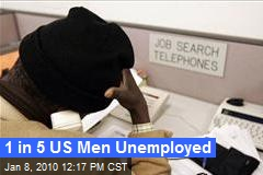 1 in 5 US Men Unemployed