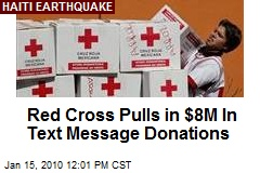 Red Cross Pulls in $8M In Text Message Donations