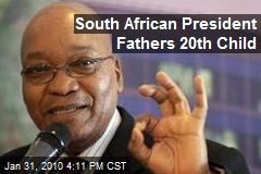 South African President Fathers 20th Child