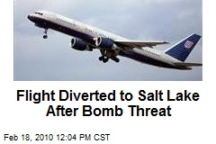 Flight Diverted to Salt Lake After Bomb Threat