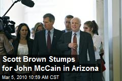 Scott Brown Stumps for John McCain in Arizona