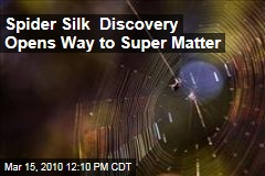 Spider Silk Discovery Opens Way to Super Matter