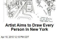 Artist Aims to Draw Every Person In New York