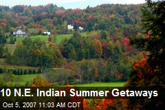 10 N.E. Indian Summer Getaways