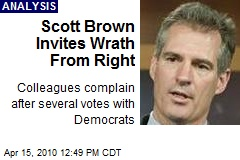 Scott Brown Invites Wrath From Right