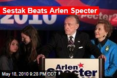 Sestak Beats Arlen Specter