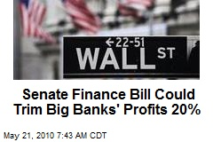 Financial Bill Could Trim Big Banks&#39; Profits 20%