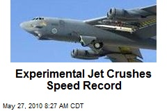 Experimental Jet Crushes Speed Record