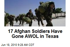 17 Afghan Soldiers Go AWOL in Texas, Military Warned