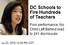 DC Schools to Fire Hundreds of Teachers