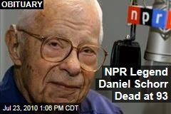 NPR Legend Daniel Schorr Dead at 93