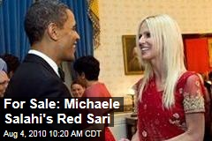 For Sale: Michaele Salahi's Red Sari