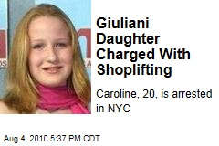 Giuliani Daughter Charged With Shoplifting