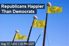 Republicans Happier Than Democrats